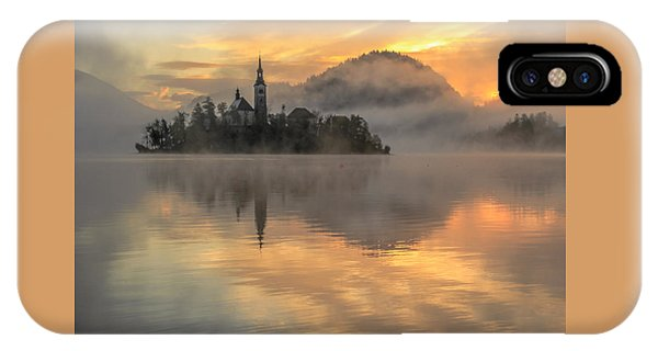 Lake Bled Sunrise Slovenia IPhone Case