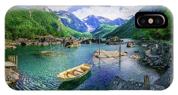 Lake Bondhusvatnet IPhone Case