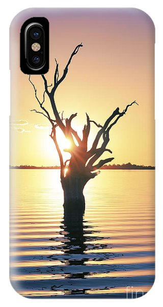 IPhone Case featuring the photograph Lake Bonney Sunset by Ray Warren