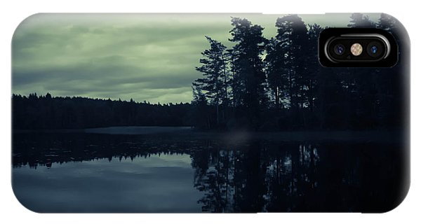 Skyscape iPhone Case - Lake By Night by Nicklas Gustafsson