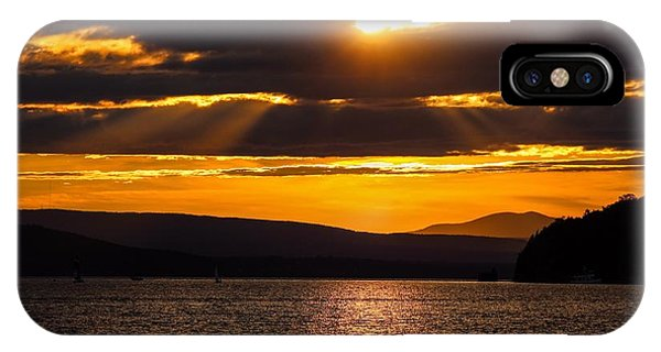 Lake Champlain Sunset IPhone Case
