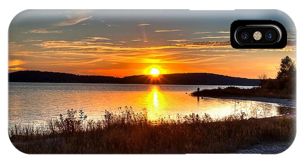 Lake Charlevoix Sunset IPhone Case