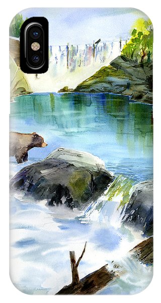 Lake Clementine Falls Bear IPhone Case