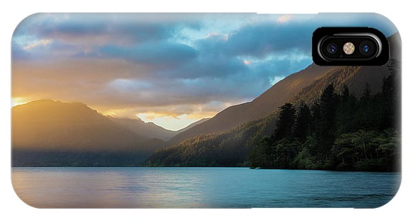 IPhone Case featuring the photograph Lake Crescent Sunrise by Expressive Landscapes Fine Art Photography by Thom