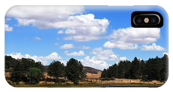 Lake Cuyamac Landscape And Clouds IPhone Case