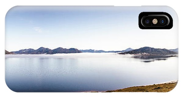 Panoramic iPhone Case - Lake Edgar Dam Southwest Tasmania by Jorgo Photography - Wall Art Gallery