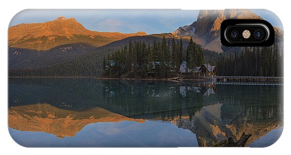 Lake Emerald Lodge IPhone Case
