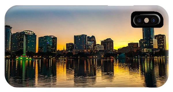 Lake Eola Sunset IPhone Case