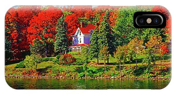 Lake Geneva Wisconsin North Shore Fall IPhone Case