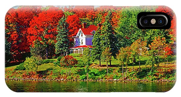 Lake Geneva Wisconsin North Shore Fall IPhone Case