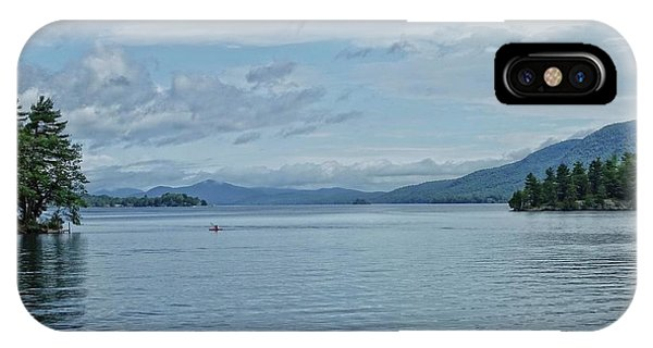 Lake George Kayaker IPhone Case