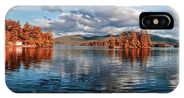 Lake George Panorama  IPhone Case