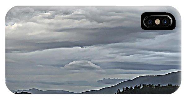 Lake George Rain And Clouds IPhone Case