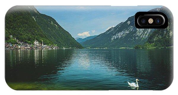 Lake Hallstatt Swans IPhone Case
