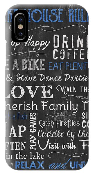 Laugh iPhone Case - Lake House Rules by Debbie DeWitt