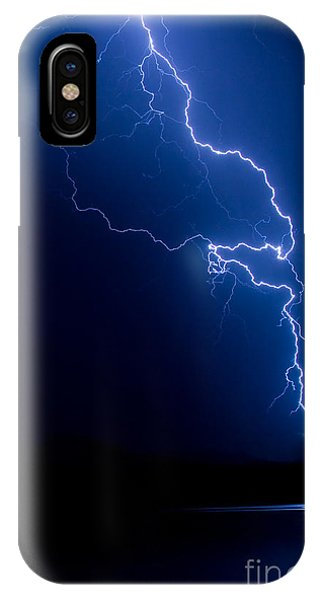 Lake Lightning Strike IPhone Case