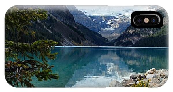 Banff iPhone Case - Lake Louise 2 by Larry Ricker