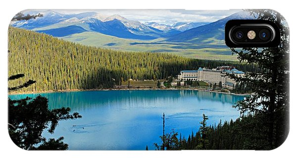 Lake Louise Chalet IPhone Case