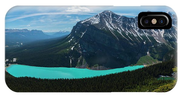IPhone Case featuring the photograph Lake Louise From Little Beehive Overlook by Owen Weber
