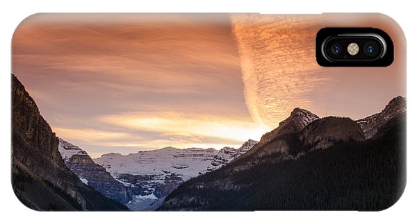 Lake Louise Sunset IPhone Case