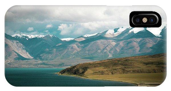 Kora iPhone Case - Lake Manasarovar Kailas Yantra.lv Tibet by Raimond Klavins