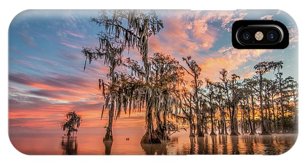 Lake Maurepas On Fire IPhone Case