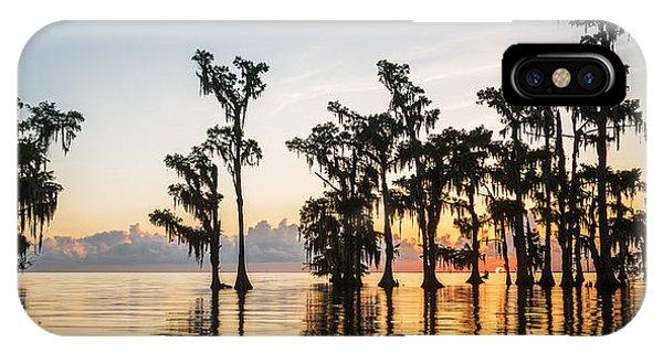 Lake Maurepas Sunrise IPhone Case