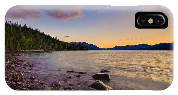 Lake Mcdonald At Sunset Horizontal IPhone Case