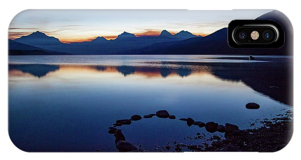 IPhone Case featuring the photograph Lake Mcdonald Sunrise Tranquility by Lon Dittrick