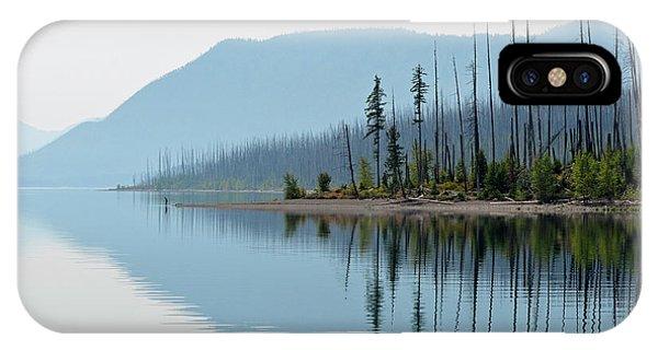 Lake Mcdonald Twin Reflections IPhone Case