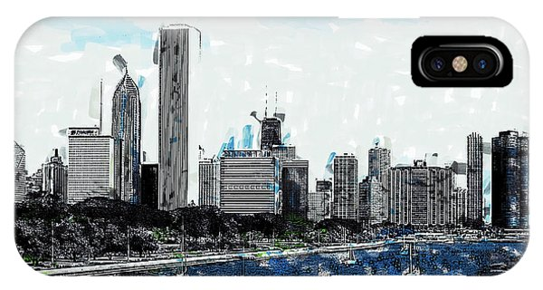 Lake Michigan And The Chicago Skyline IPhone Case