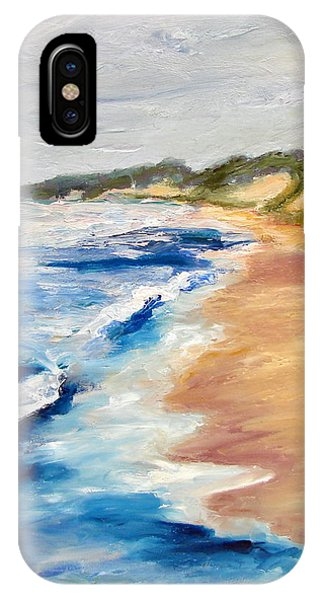 Lake Michigan Beach With Whitecaps Detail IPhone Case