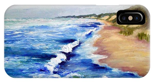 Lake Michigan Beach With Whitecaps IPhone Case