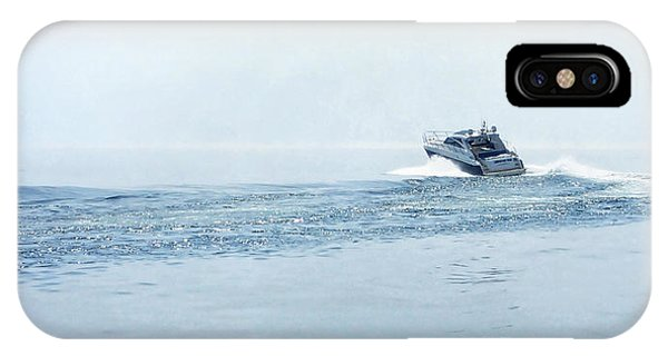 IPhone Case featuring the photograph Lake Michigan Boating by Lars Lentz