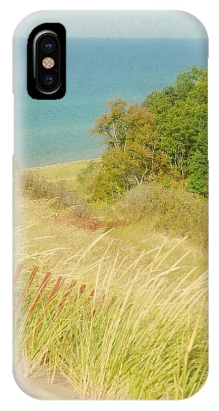 IPhone Case featuring the photograph Lake Michigan Dune View by Michelle Calkins