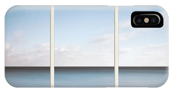 Simple Landscape iPhone Case - Lake Michigan Minimalist Triptych by Scott Norris