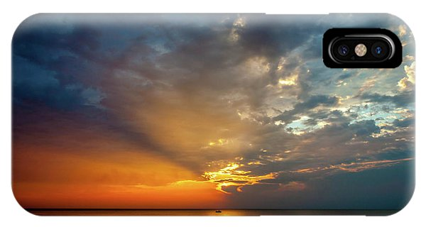 IPhone Case featuring the photograph Lake Michigan Sunset by Matthew Chapman