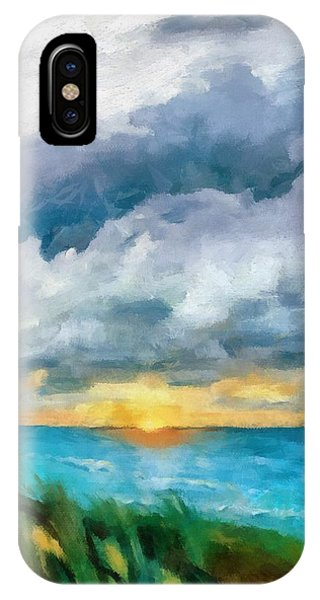 Lake Michigan Sunset IPhone Case
