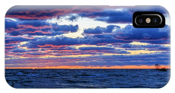 Lake Michigan Windy Sunrise IPhone Case