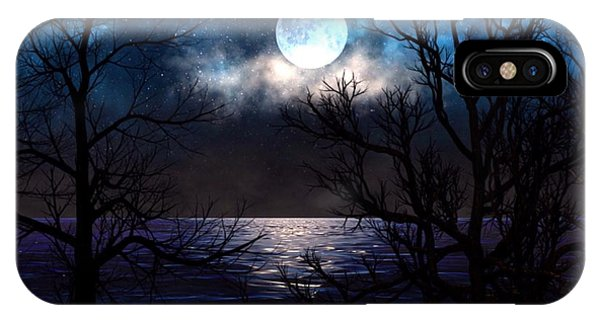 IPhone Case featuring the painting Lake Midnight by Mark Taylor