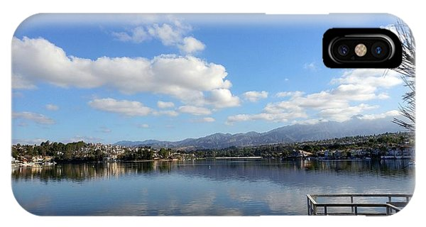 Lake Mission Viejo Cloud Reflections IPhone Case