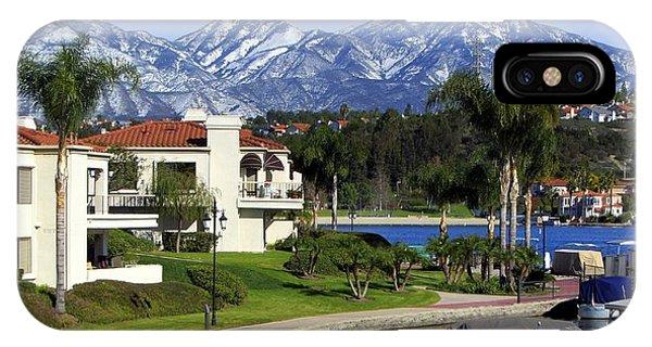 Lake Mission Viejo Snow On Saddleback Mountain IPhone Case