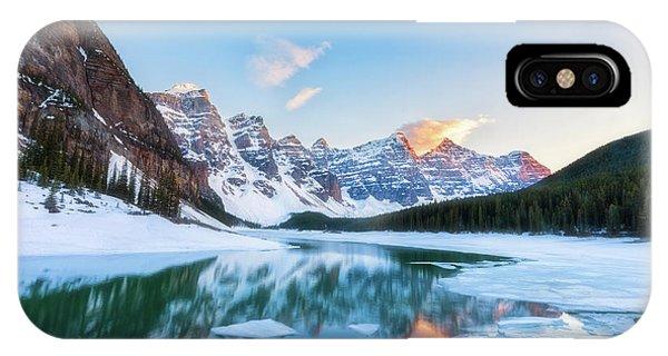 Lake Moraine Sunset IPhone Case