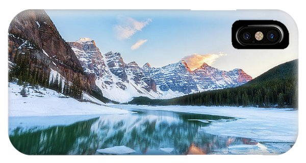 Lake Moraine Sunset IPhone Case