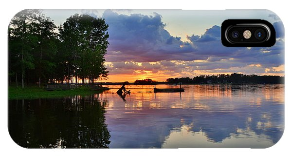 IPhone Case featuring the photograph Lake Murray Sc Reflections by Lisa Wooten