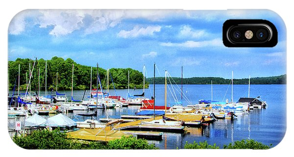 Lake Nockamixon Marina IPhone Case