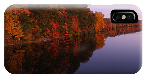 Lake Nockamixon Twilight Reflection In Autumn IPhone Case