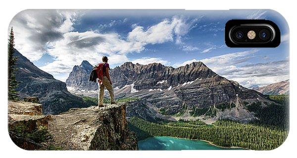 Lake O'hara Adventure IPhone Case