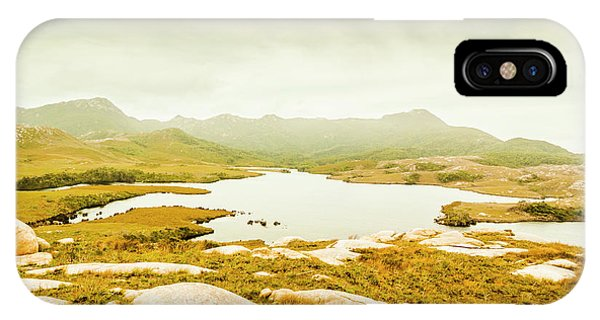 Trial iPhone Case - Lake On A Mountain by Jorgo Photography - Wall Art Gallery