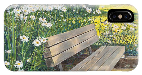 Lake Padden Series - Memorial Bench Of Judy Winter IPhone Case